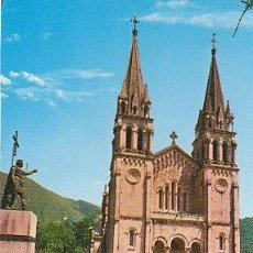 Postales: COVADONGA, BASILICA Y ESTATUA DEL REY DON PELAYO, EDITOR: ARRIBAS Nº 89. Lote 37785677