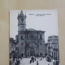 Postales: POSTAL. OVIEDO. IGLESIA DE SAN ISIDORO. PLAZA MAYOR. M.G.. Lote 38102970