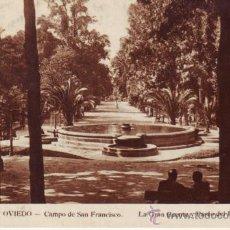 Cartes Postales: ESPAÑA POSTALES LOTE 205 OVIEDO CAMPO DE SAN FRANCISCO SIN CIRCULAR.. Lote 38311329