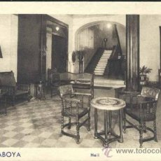 Postales: GIJÓN (ASTURIAS).- HOTEL SABOYA.-HALL. Lote 39038021