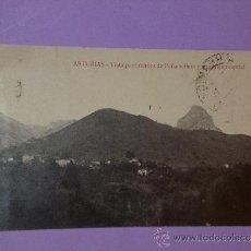 Postales: ASTURIAS.- VISTA DE PEÑAMELLERA Y SU ANTIGUA CAPITAL. (POSTAL CIRCULADA). Lote 39118161