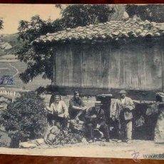 Postales: ANTIGUA POSTAL DE ASTURIAS . PUERTO DE PAJARES, UN HORREO - SIN CIRCULAR. Lote 38254019