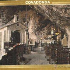 Postales: COVADONGA - GRUTA Y VIRGEN DE COVADONGA. Lote 40475138