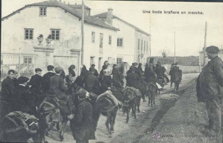 UAN BODA BRAÑERA EN MARCHA (Postales - España - Asturias Antigua (hasta 1.939))