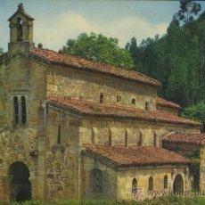 Postales: POSTAL IGLESIA DE SAN SALVADOR DE VALDEDIÓS VILLAVICIOSA ASTURIAS. Lote 40576669