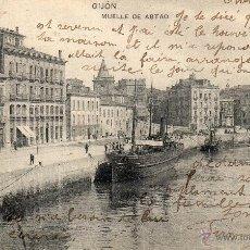 Postales: GIJON. 1958 MUELLE DEL ABTAO. HAUSER Y MENET. Lote 40648431