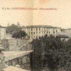 Postales: POSTAL ANTIGUA DOBLE-CVADONGA-ASTURIAS-VISTA PANORAMICA. Lote 40853367