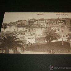 Postales: GIJON ASTURIAS LOS MUELLES. Lote 41056190