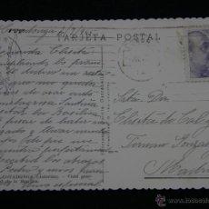 Postales: TARJETA POSTAL 2-7- 1945 2358 COVADONGA VISTA GENERAL DE LA BASÍLICA CIRCULADA MADRID . Lote 41107642