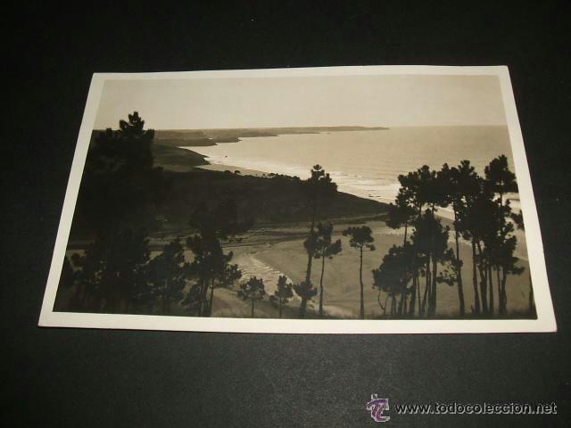 LUANCO CANDAS ASTURIAS PLAYA DE ABOÑO POSTAL FOTOGRAFICA CELESTINO COLLADA OVIEDO (Postales - España - Asturias Antigua (hasta 1.939))