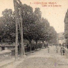 Postales: TRUBIA. 3 CALLE DE LA ESTACIÓN. THOMAS. Lote 41217614