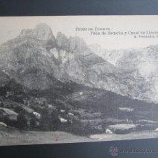 Postales: POSTAL ASTURIAS. PICOS DE EUROPA. PEÑA DE REMOÑA Y CANAL DE LLORDES. . Lote 41797698