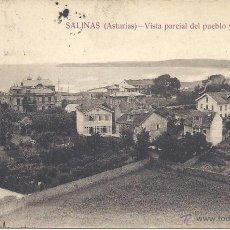 Postales: PS3543 SALINAS 'VISTA PARCIAL DEL PUEBLO Y PLAYA'. ED. R.M. CIRCULADA. Lote 41841524