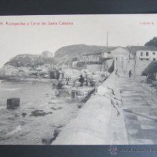 Postales: POSTAL GIJÓN. ROMPEOLAS Y CERRO DE SANTA CATALINA. . Lote 41992982