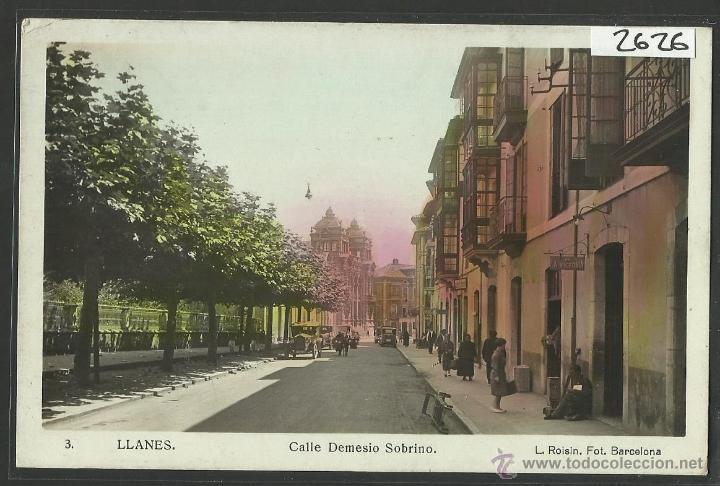 LLANES - 3 - CALLE DEMESIO SOBRINO - FOTOGRAFICA ROISIN - (2626) (Postales - España - Asturias Antigua (hasta 1.939))
