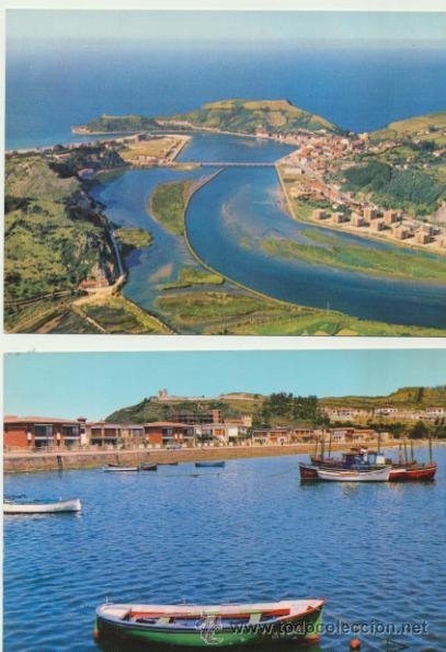 RIBADESELLA. LOTE DE 2 POSTALES. AÑOS 60. (Postales - España - Asturias Moderna (desde 1.940))