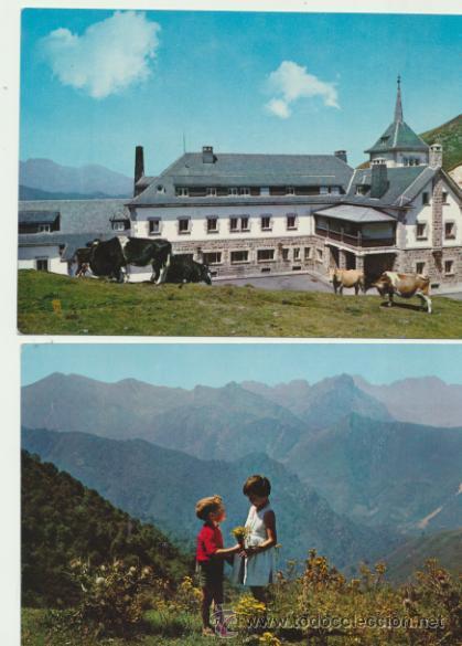 PAJARES. LOTE DE 2 POSTALES. AÑOS 60. (Postales - España - Asturias Moderna (desde 1.940))
