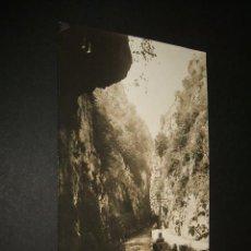 Postales: QUIROS ASTURIAS PEÑAS JUNTAS DESFILADERO POSTAL FOTOGRAFICA CELESTINO COLLADA LIBRERIA OVIEDO . Lote 42558317