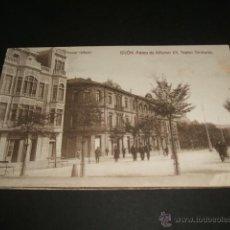 Postales: GIJON ASTURIAS PASEO DE ALFONSO XII TEATRO DINDURRA POSTAL VINCK. Lote 42562782