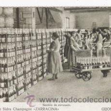 Cartes Postales: REPRODUCION POSTAL ANTIGUA (GIJÓN-FÁBRICA DE SIDRA ZARRACINA). Lote 42646179
