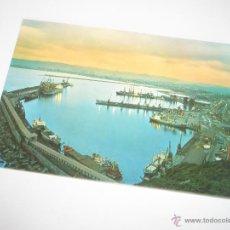 Postales: POSTA-GIJÓN-PUERTO DEL MUSEL(NOCTURNO)-1975-NUEVA-.. Lote 42762178