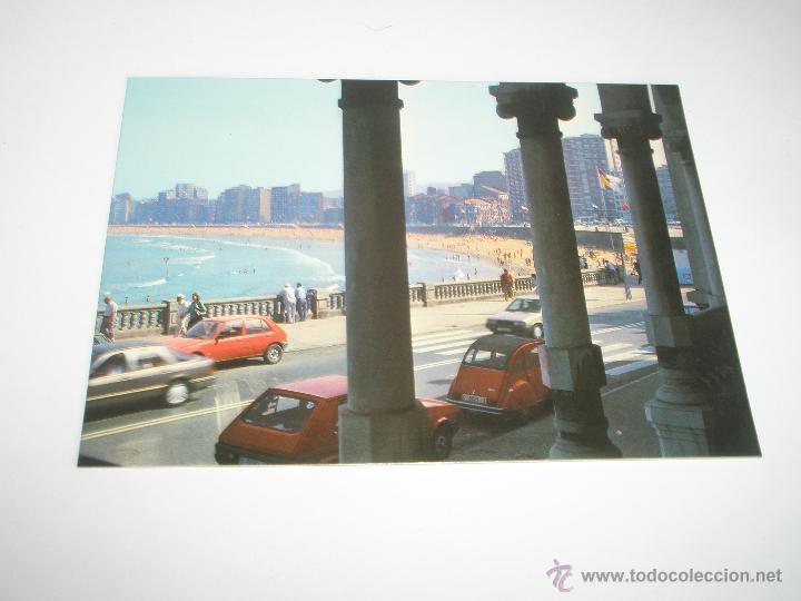 POSTAL-GIJÓN-ASTURIAS-PLAYA DE SAN LORENZO-1988-NUEVA-. (Postales - España - Asturias Moderna (desde 1.940))
