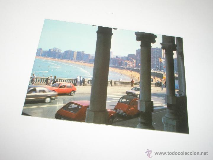 Postales: POSTAL-GIJÓN-ASTURIAS-PLAYA DE SAN LORENZO-1988-NUEVA-. - Foto 2 - 42763640