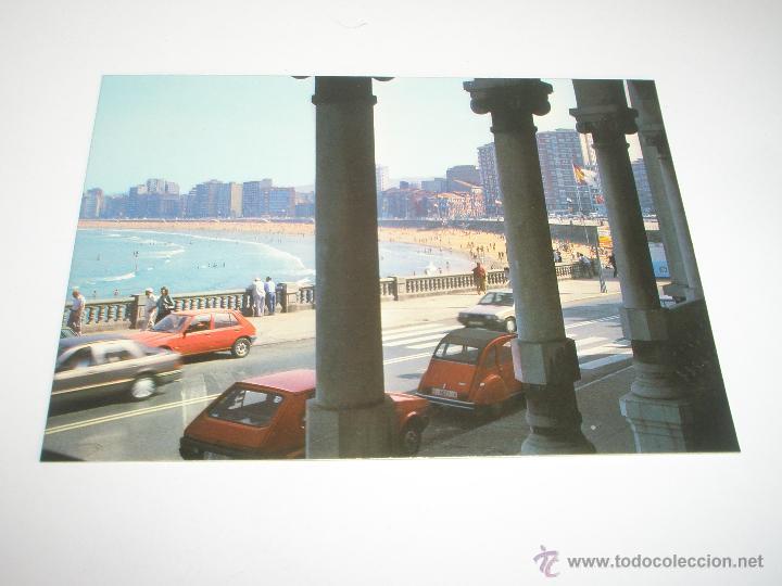 Postales: POSTAL-GIJÓN-ASTURIAS-PLAYA DE SAN LORENZO-1988-NUEVA-. - Foto 3 - 42763640