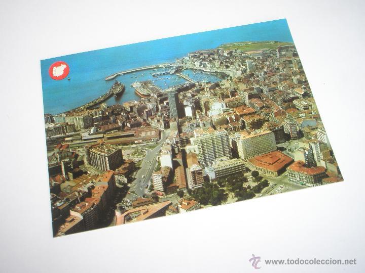 POSTAL-GIJÓN-ASTURIAS-VISTA AÉREA-1969-NUEVA-. (Postales - España - Asturias Moderna (desde 1.940))