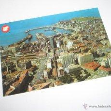 Postales: POSTAL-GIJÓN-ASTURIAS-VISTA AÉREA-1969-NUEVA-.. Lote 42764872