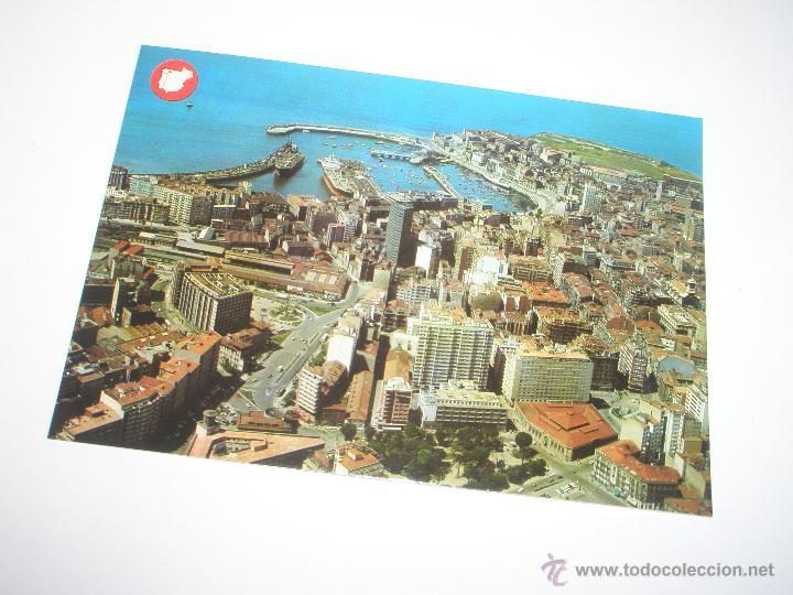 Postales: POSTAL-GIJÓN-ASTURIAS-VISTA AÉREA-1969-NUEVA-. - Foto 2 - 42764872