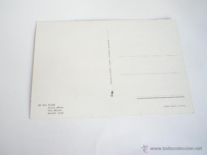 Postales: POSTAL-GIJÓN-ASTURIAS-VISTA AÉREA-1969-NUEVA-. - Foto 3 - 42764872