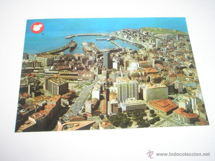 Postales: POSTAL-GIJÓN-ASTURIAS-VISTA AÉREA-1969-NUEVA-. - Foto 4 - 42764872