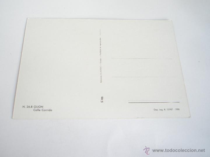 Postales: POSTAL-GIJÓN-ASTURIAS-CALLE CORRIDA-1988-NUEVA-. - Foto 2 - 42780336