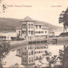 Postales: POSTAL GIJON -ASTURIAS PINTORESCA- EDITA VINCK. Lote 42795998