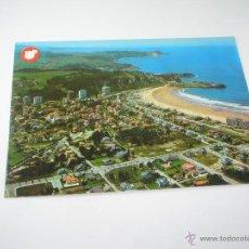 Postales: POSTAL-SALINAS-ASTURIAS-ESPAÑA-VISTA AEREA-1969-NUEVA-SIN CIRCULAR-.. Lote 42997249