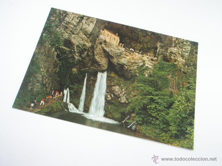 POSTAL-COVADONGA-ASTURIAS-LA SANTINA-1965-NUEVA-. (Postales - España - Asturias Moderna (desde 1.940))