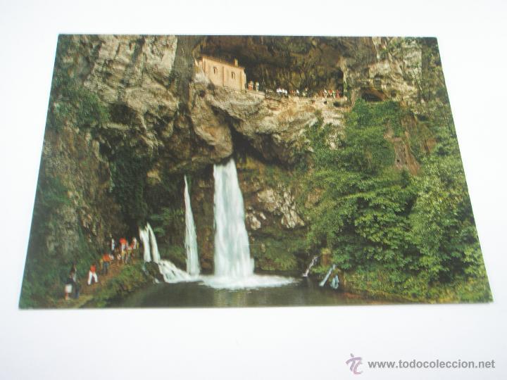 Postales: POSTAL-COVADONGA-ASTURIAS-LA SANTINA-1965-NUEVA-. - Foto 3 - 43008894