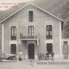Cartes Postales: REPRODUCION POSTAL ANTIGUA (GIJÓN-MERENDERO VENECIA DE VERIÑA). Lote 43035061