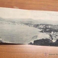 Postales: BONITA POSTAL DOBLE SAN SEBASTIAN -VISTA GENERAL DESDE EL MONTE IGUELDO -FOT. HAUSER Y MENET. R-1687. Lote 43158481