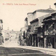Postales: AVILÉS. 15 CALLE JOSÉ MANUEL PEDREGAL. THOMAS. Lote 43267828
