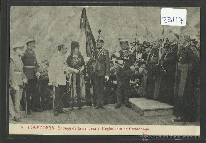 COVADONGA - 9 - ENTREGA DE LA BANDERA AL REGIMIENTO DE COVADONGA - THOMAS - (23117) (Postales - España - Asturias Antigua (hasta 1.939))