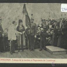 Postales: COVADONGA - 9 - ENTREGA DE LA BANDERA AL REGIMIENTO DE COVADONGA - THOMAS - (23117). Lote 43631281