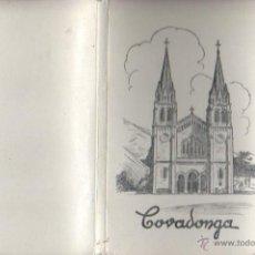 Postales: BLOQUE DE 10 POSTALES DE COVADONGA - DE GARCIA GARRABELLA DE ZARAGOZA . Lote 43868590