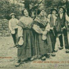 Cartes Postales: EL SABOR DE LA TIERRUCA. LA VUELTA DE LA ROMERÍA. HACIA 1920.CIRCULADA EN 1910.. Lote 43885835