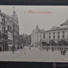 Postales: ANTIGUA POSTAL DE OVIEDO. CALLE DE ARGÜELLES. FOTPIA. CASTAÑEIRA. SIN CIRCULAR. Lote 43969629