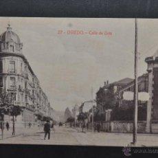 Postales: ANTIGUA POSTAL DE OVIEDO. CALLE DE URÍA. FOTPIA. CASTAÑEIRA. SIN CIRCULAR. Lote 43969653