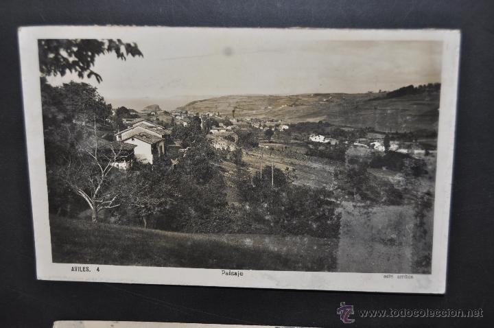 ANTIGUA FOTO POSTAL DE AVILES. ASTURIAS. PAISAJE. ED. ARRIBAS. CIRCULADA (Postales - España - Asturias Antigua (hasta 1.939))