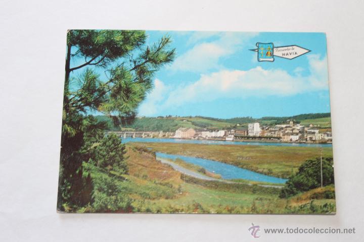 POSTA DE NAVIA VISTA GENERAL AÑO 69 (Postales - España - Asturias Moderna (desde 1.940))