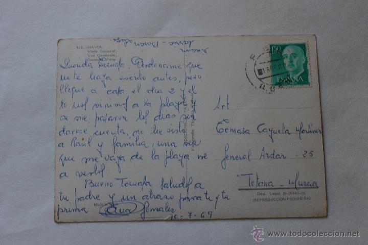 Postales: POSTA DE NAVIA VISTA GENERAL AÑO 69 - Foto 2 - 44364092